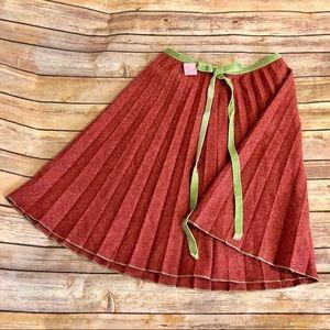 Escada Sport Brownish Colored Pleated Skirt